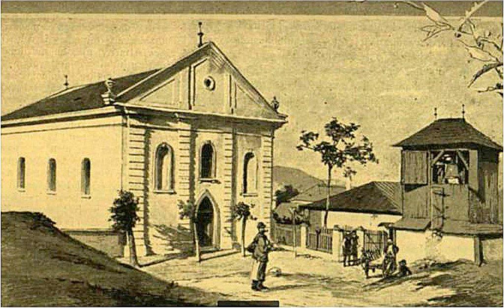 A tállyai evangélikus templom legrégebbi ismert ábrázolása