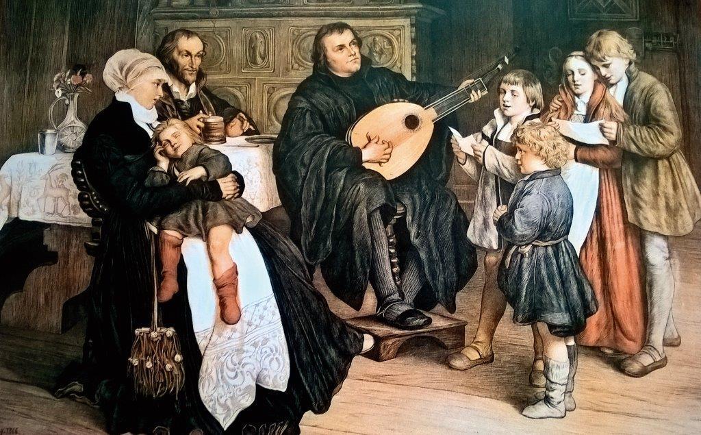 Luther Márton családja körében